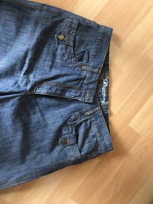 Deerberg Jeans flare bleu acier coton