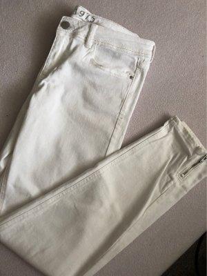 Zara Basic Jeans slim blanc