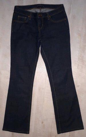 Zara Woman Jeansowe spodnie dzwony ciemnoniebieski