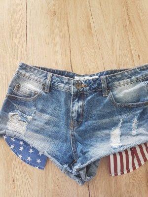 New Yorker Pantalón corto de tela vaquera azul