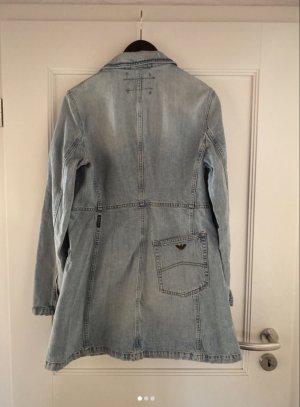 Armani Veste en jean bleu pâle-gris