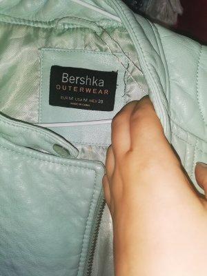 BSK by Bershka Veste en cuir synthétique turquoise