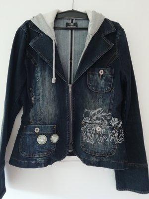 Background Jeansowa kurtka ciemnoniebieski