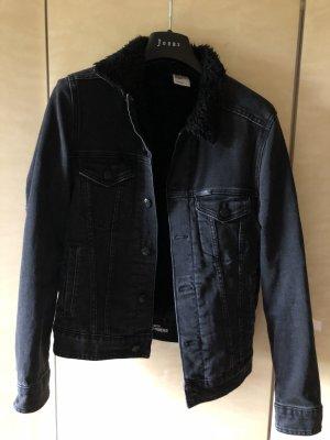 H&M DENIM Jeansowa kurtka czarny