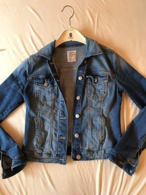 Bershka Veste en jean bleu acier