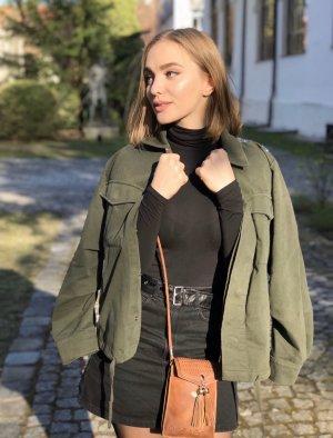 Zara Woman Denim Jacket dark green