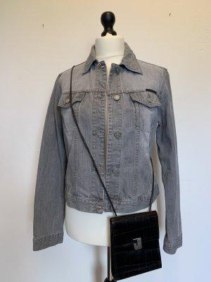 Sisley Denim Jacket light grey cotton