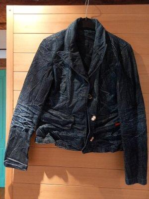 Blazer vaquero azul tejido mezclado