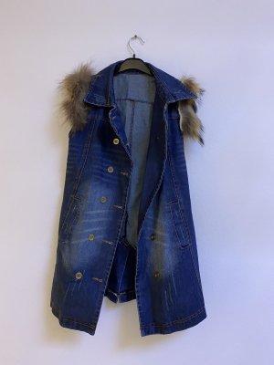 Jeansjurk donkerblauw