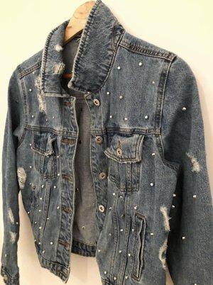 08/16 Veste en jean gris ardoise