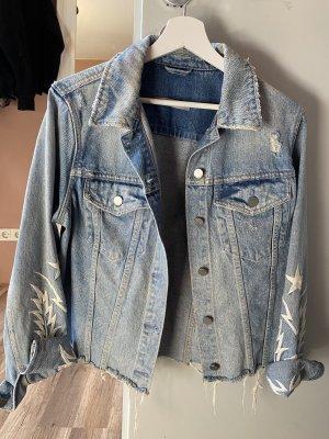 Allsaints Spitalfields Veste en jean bleu clair-bleu azur