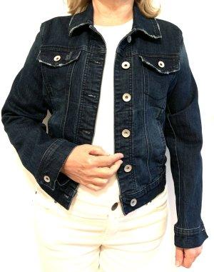 Yessica Veste en jean bleu foncé jean