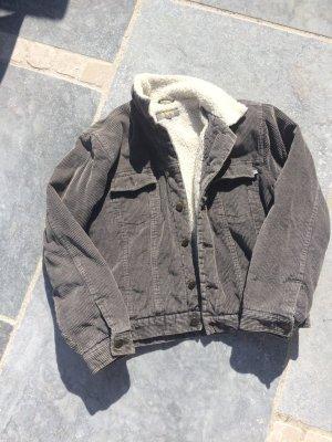 Jeansjacke aus Kord mit Teddyfutter