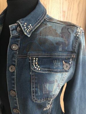 Denim Jacket blue-steel blue mixture fibre