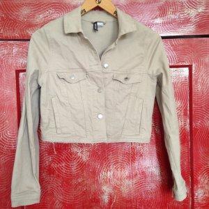 Jeansjacke beige Cropped Jacke H&M S M 36 38 Monki Weekday Pull 2YK