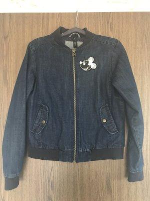 B&C collection Jeansowa kurtka niebieski-ciemnoniebieski Bawełna