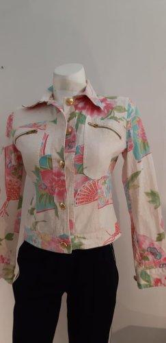 Bottega Denim Jacket white-pink