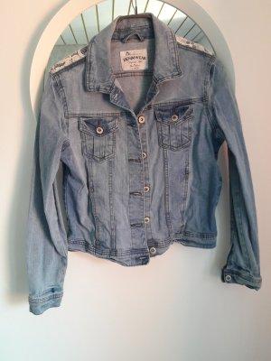 Blue Motion Veste en jean gris ardoise-bleu azur