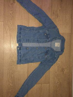 Bershka Leather Jacket cornflower blue-steel blue