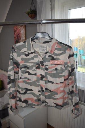 Jeansjacke Camouflage