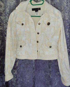 Just cavalli Jeansowa kurtka biały-jasnobeżowy