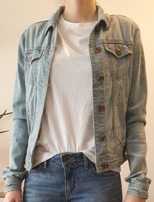 C&A Clockhouse Veste en jean bleu azur-bleuet coton