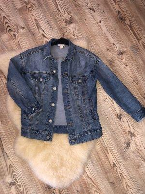 H&M Oversized Jacket steel blue