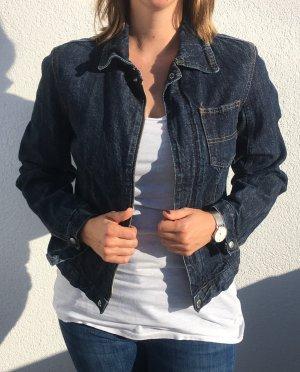 Sisley Veste en jean bleu foncé