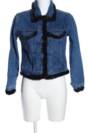 Jeansjacke blau-schwarz Casual-Look