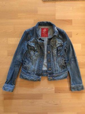 Edc Esprit Blazer in jeans azzurro