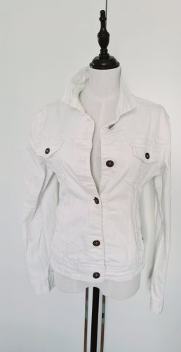 Amisu Jeansowa kurtka biały