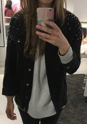 Gina Tricot Jeansowa kurtka czarny