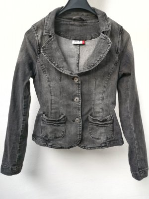 beat wear Denim Jacket grey