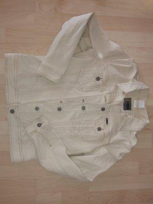 4Wards Jeansowa kurtka kremowy-jasnobeżowy