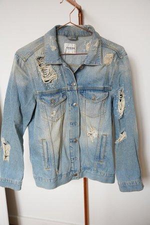 Guess Veste en jean bleu pâle-bleu azur