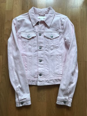 H&M Veste en jean argenté-rose clair