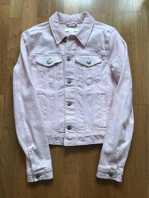 H&M Giacca denim argento-rosa chiaro