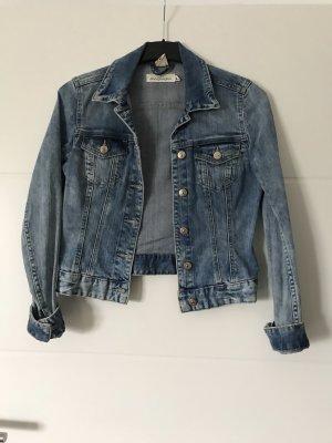 Veste en jean bleu azur