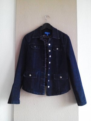Jeansjacke in marineblau, Made in Italy, Grösse S