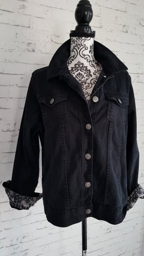 Jeansjacke Jacke schwarz Gr 46