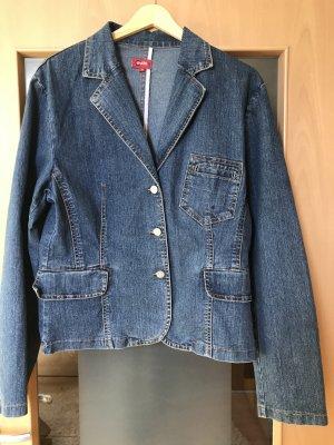 Outfit Blazer en jean bleu foncé-bleu