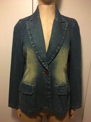 Blazer in jeans blu cadetto-verde-grigio Cotone