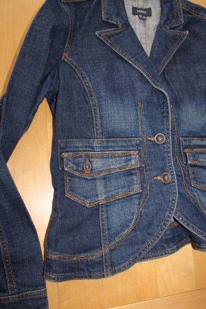 Mexx Blazer en jean bleu-bleu foncé coton