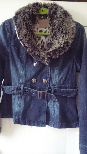 jeansjacke leicht latiert