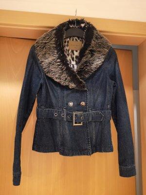 Jeansjacke mit abnehmbarem Fellkragen Gr. S