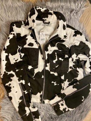 Jeansjacke mit cow print