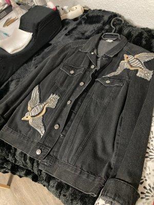 Jeansjacke mit Pailletten