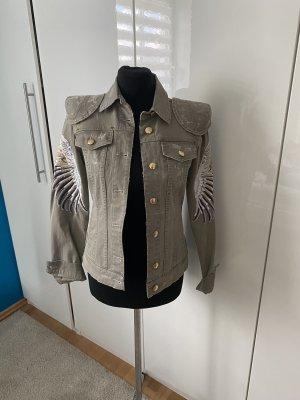 Jeansjacke mit Schulterpolster