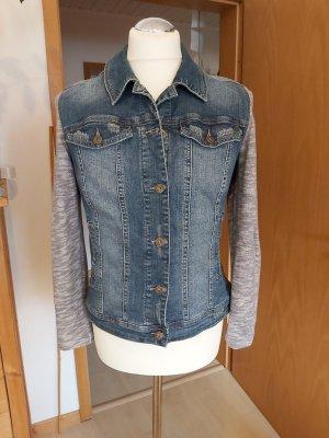 Jeansjacke mit Strickärmel von Arizona – Gr.40/42