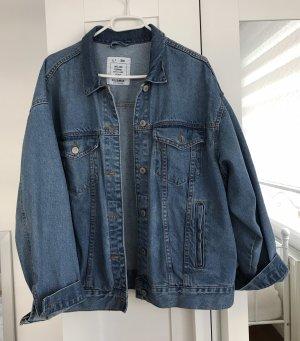 Pull & Bear Smanicato jeans blu fiordaliso-blu acciaio